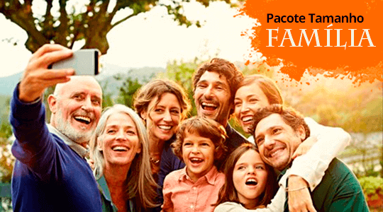 Banner Pacote Tamanho Família